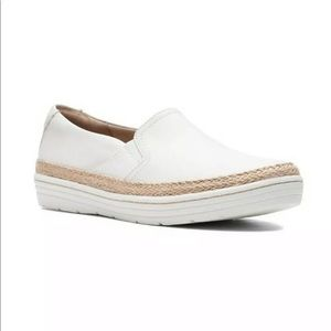 NEW Clarks Collection Marie Sail White Sneakers